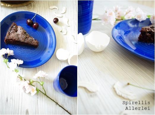Spirellis Allerlei - SchokoKuchen mit Schokolade und Kirschen