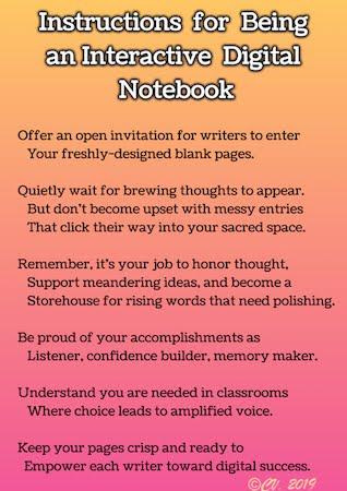 Beyond LiteracyLink: Instructions For My Digital Notebook