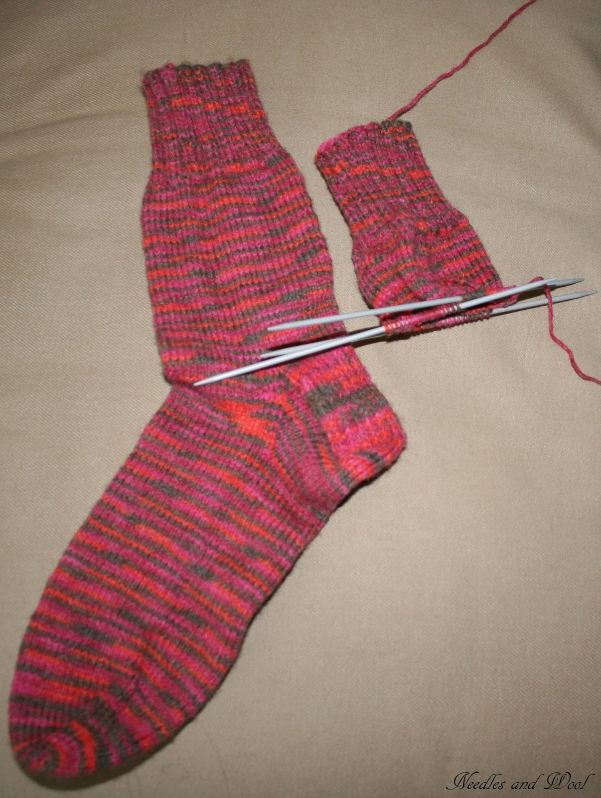 Needles and Wool: Knitting Socks, Front sweater Piece, and ...