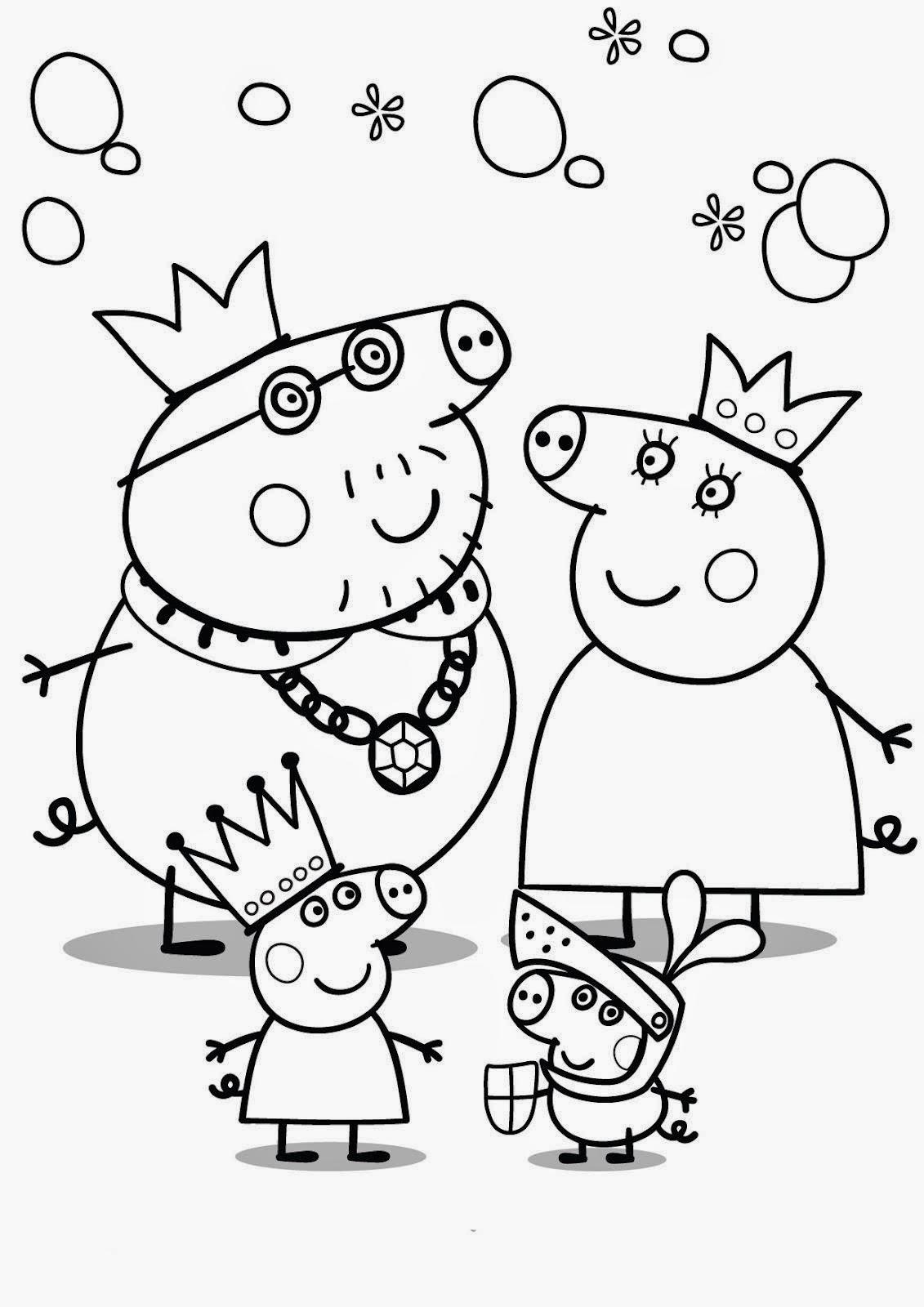 Peppa Pig Desenhos Para Colorir