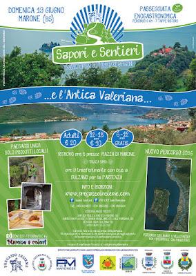 Sapori e Sentieri lungo l'antica Valeriana 19 giugno Marone (BS)