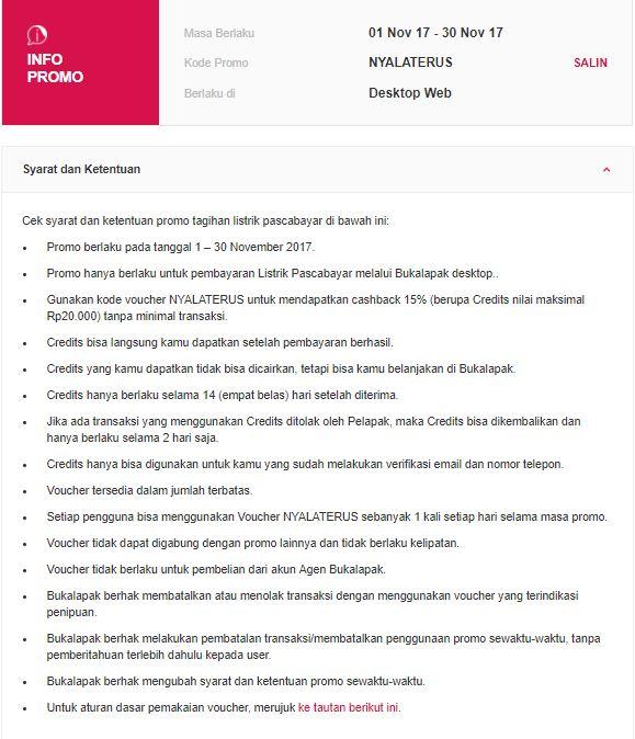 Bukalapak Promo Bayar Tagihan Listrik Pascabayar Diskon 15 Katalog Promo Terbaru