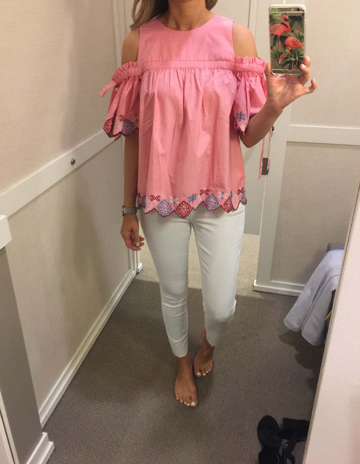 0c113d499f3f7 Cute and different. I got size xs. (initially forgot to add this  picture…the most exciting top lol). Cold Shoulder Top – my fave!