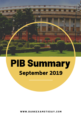 PIB Summary: September 2019