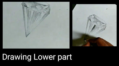 Step by step tutorials for to draw star in 3d, how to draw diamond for kids,