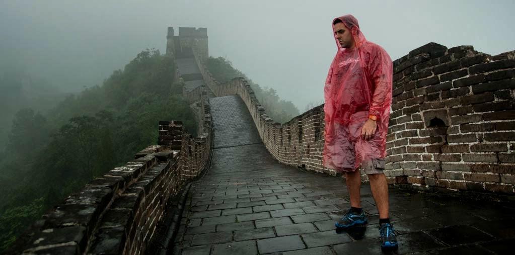 Rubén López en la Gran Muralla China