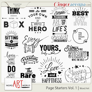 NEW Word Art Pack + Monthly Freebie!