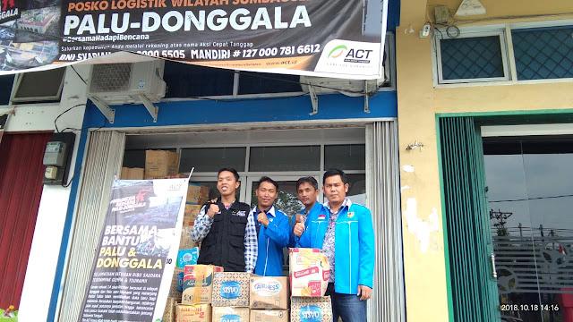 KNPI PALI Salurkan Bantuan Untuk Warga PALU dan Donggala Melalui ACT
