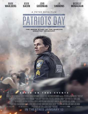 Patriots Day 2016 English 550MB BluRay 720p ESubs HEVC Free Download Watch Online Downloadhub.in