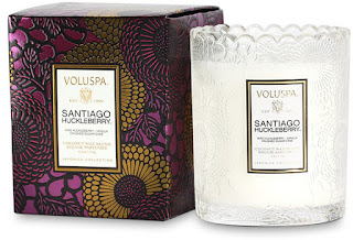 Voluspa Japonica limited edition candle in Santiago Huckleberry