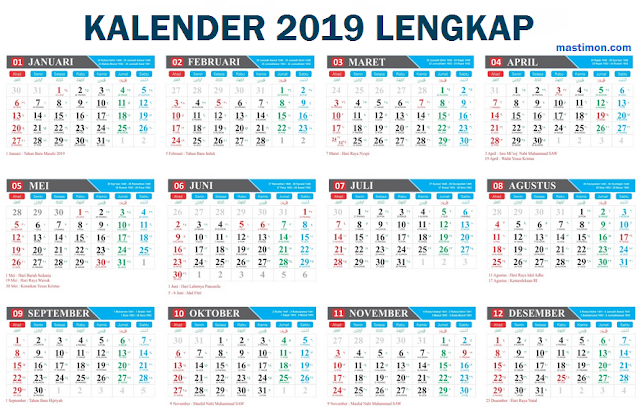Download Kalender 2019 Cdr Free