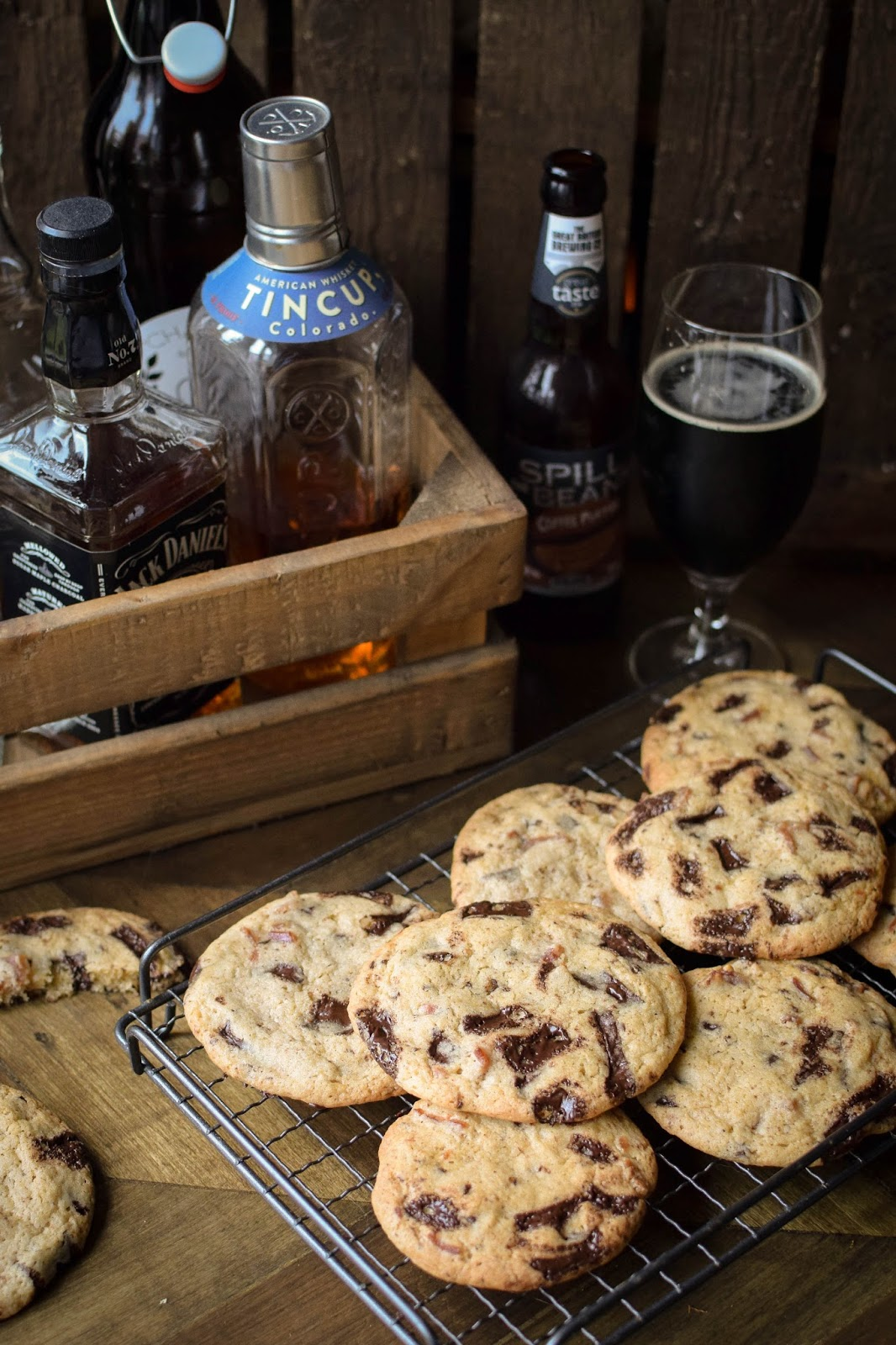 Beer and Bacon Cookies