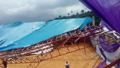 Reigners Bible Church in Uyo Village Road Collapses - Many Feared Injured (PHOTO)