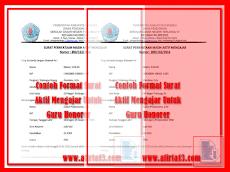 Contoh Format Surat Aktif Mengajar Untuk Guru Honorer
