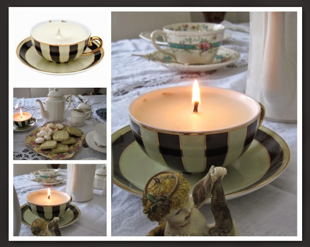 Tea Time with Natasha in Oz: Tea Cup Candles