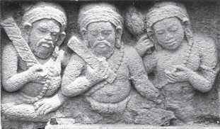 Relief pada Candi Morangan, Jawa Tengah