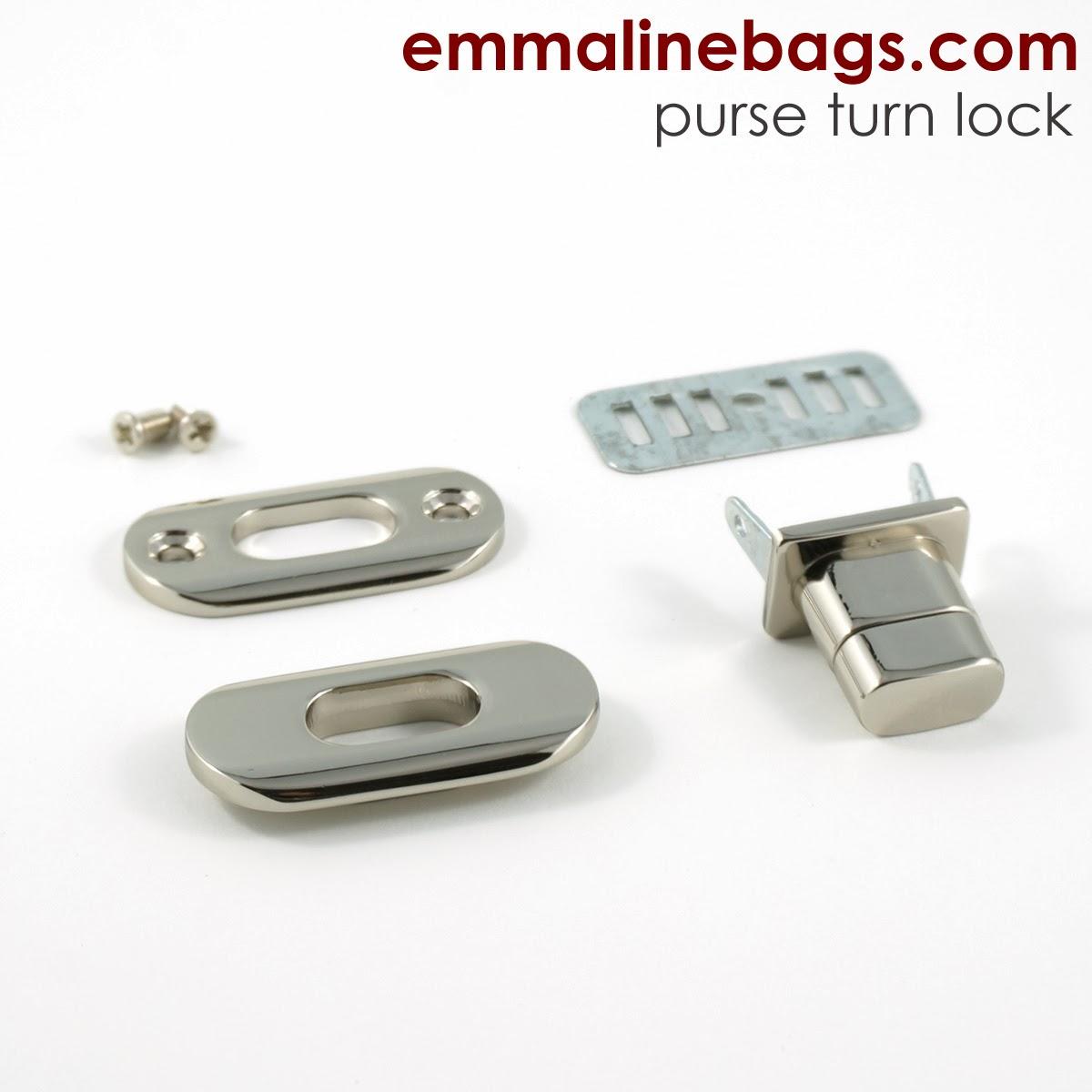 12 Pcs Lot Handbags Hardware Accessories Pale Golden Rotate The Lock Heart Metal Twist