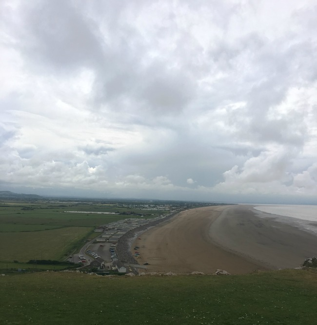 Mini-Breaks-and-Den-Building-view-of-Brean-sands-form-the-top-of-Brean-down