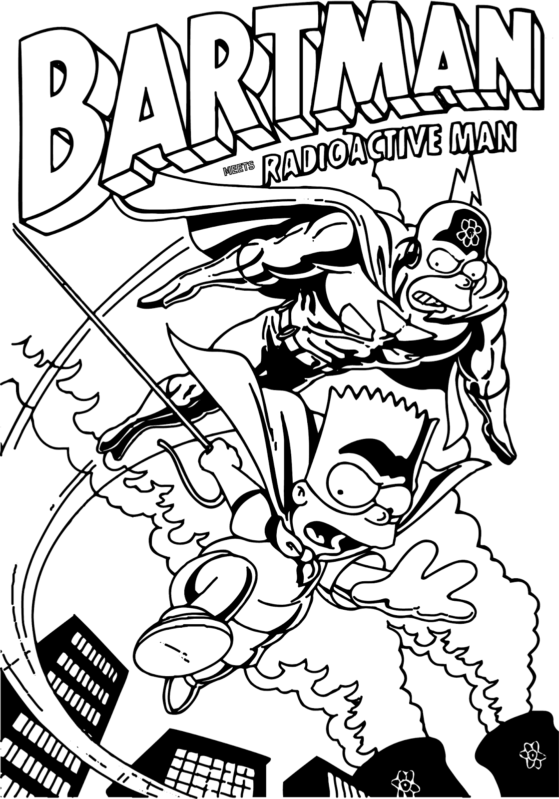 bartman simpsons coloring pages - photo#1