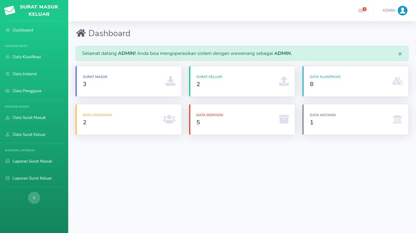 Aplikasi Manajemen Pengelolaan Arsip Surat Masuk Keluar - SourceCodeKu.com