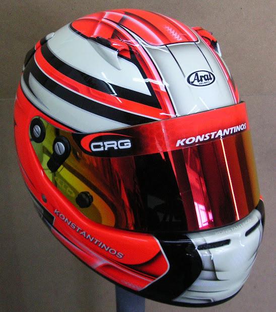 Custom Painted Arai Kart Helmet #130 Hand