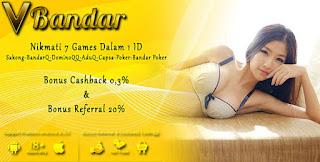 Promo Bonus Judi BandarQ Online VBandar.info - www.JudiBandarQCeme.com