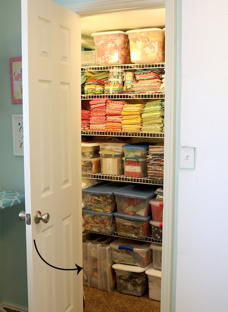 Great tips for storing and organizing all of your quilting projects - from A Bright Corner