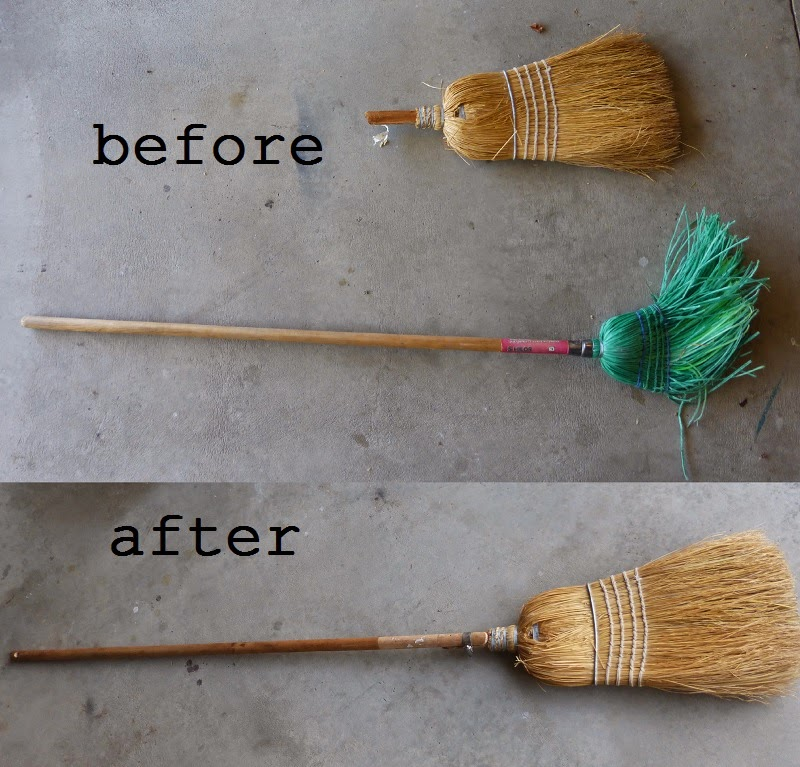 broom repair before and after