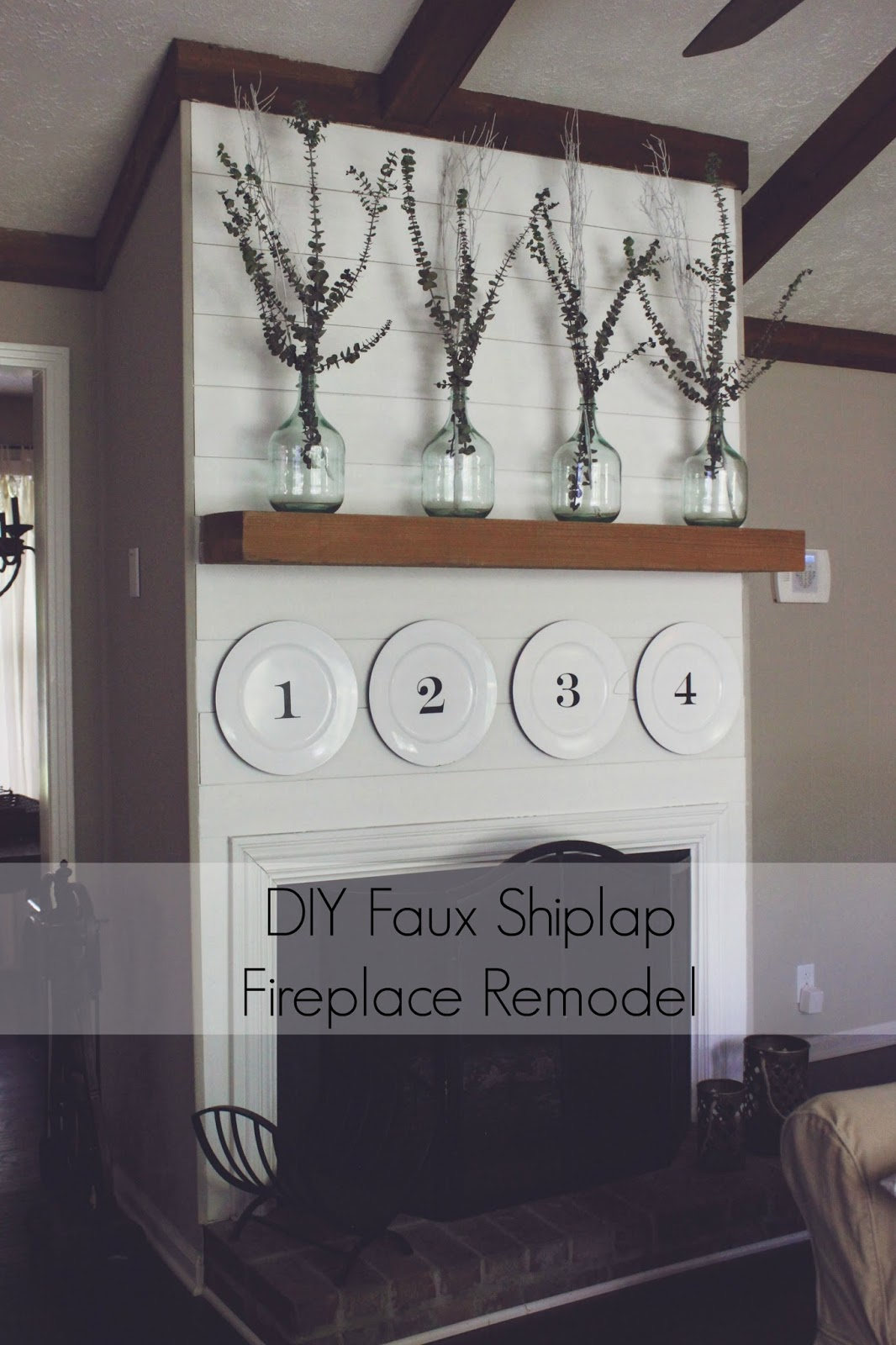 Some Kind Of Wonderful Diy Faux Shiplap Fireplace Remodel