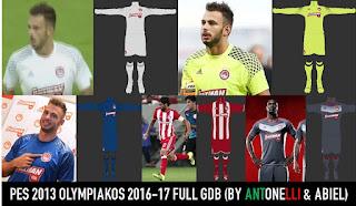 PES 2013 Olympiakos Kit 2016-17 By ANTONELLI & ABIEL