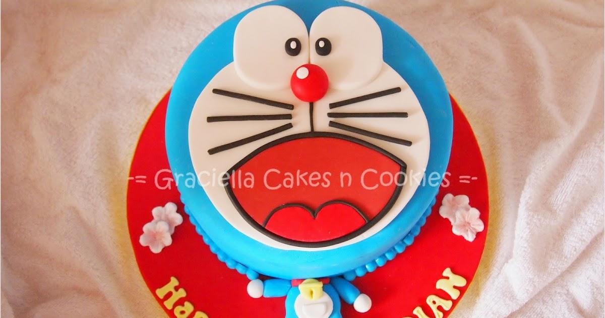 44e295374 Graciella Cakes Birthday - Manye Cake - Wedding Cupcake & Cake - Bandung  Online CakeShop: Doraemon 3D Face for Dian