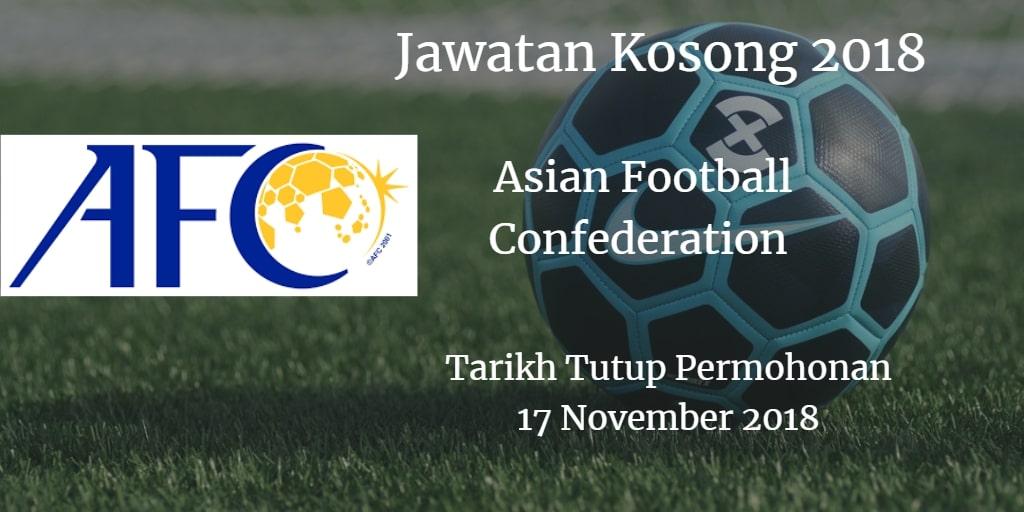 Jawatan Kosong AFC 17 November 2018