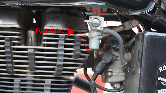 Fuel valve in Bullet Standard 500 carburetor (UCD33)