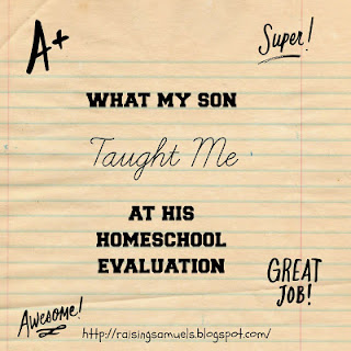 What My Son Taught Me at His Homeschool Evaluation