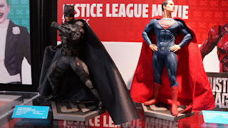 Batman and Superman statues