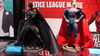 Batman and Superman statues