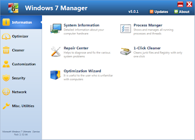 Download Windows 7 Manager v5.1.7 Full Version