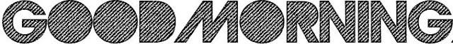 goodmorning tipografía bordados