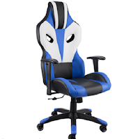 Logo TecTake: vinci gratis la sedia da ufficio Optimus nero , blu e bianco