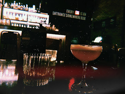 cocktails in a bar in manchester