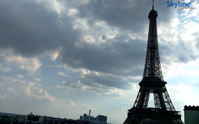 França ao vivo imagens ao vivo da câmera da torre eiffel
