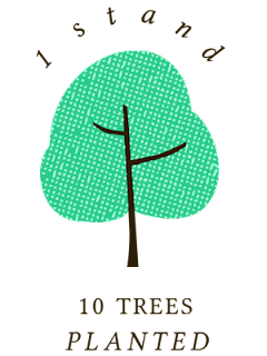 1 stand 10 trees planted - tree planting program