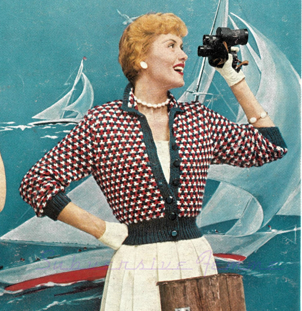 free vintage knitting patterns pattern 1950s cardigan subversive femme