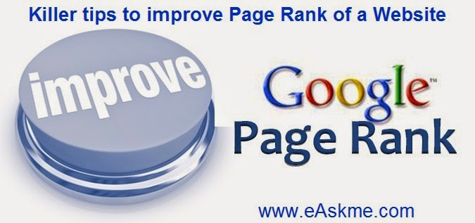 Killer tips to improve Page Rank of a Website : eAskme