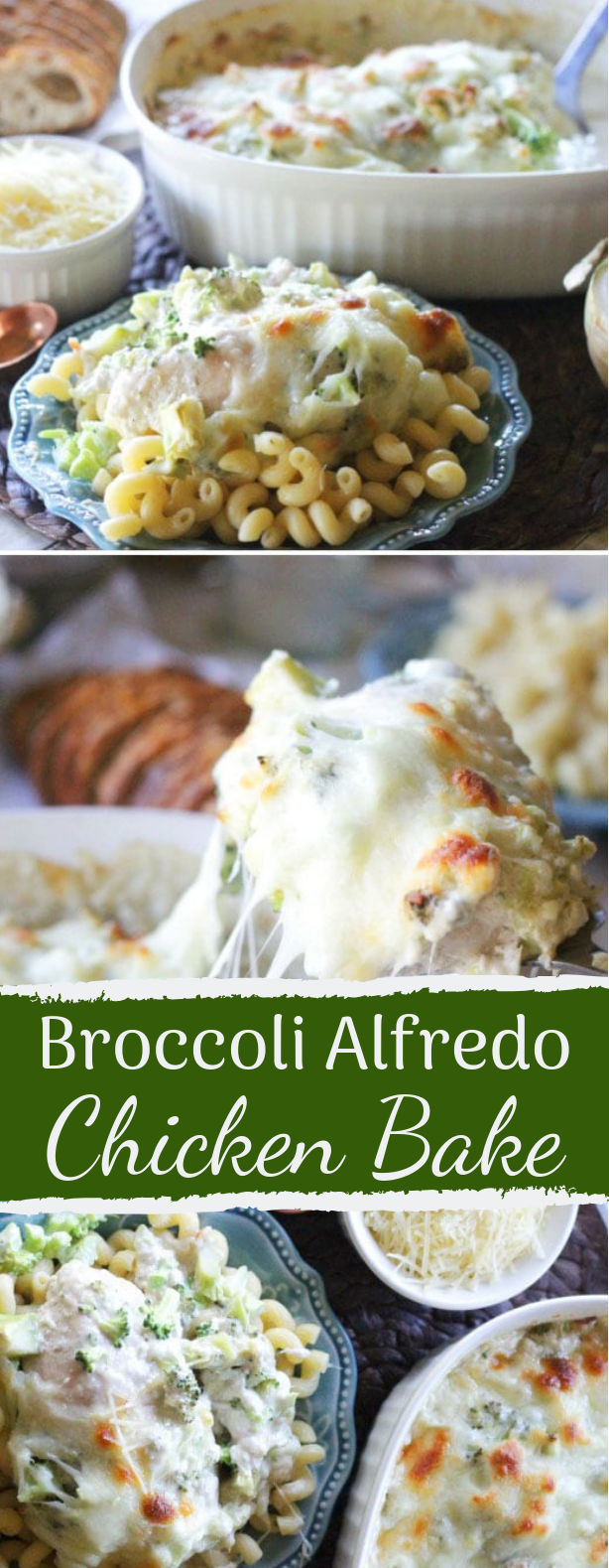 Broccoli Alfredo Chicken Bake #keto #healthyrecipe