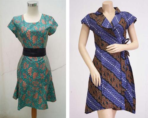 gambar model baju batik terusan