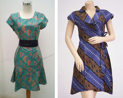 Gaun Batik Terusan