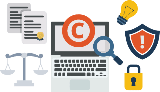 Blocking Copyrighted Material Printing Patents
