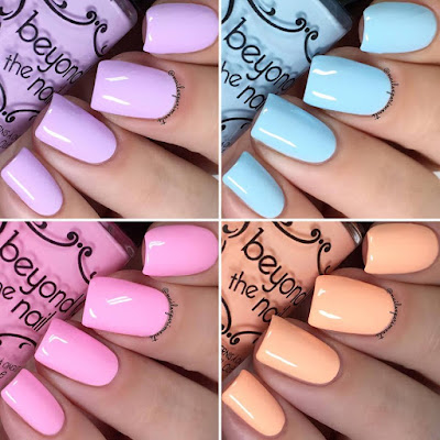 beyond the nail the soft neon collection spring 2018 swatches