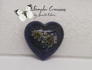 Cabochon cuore azzurro